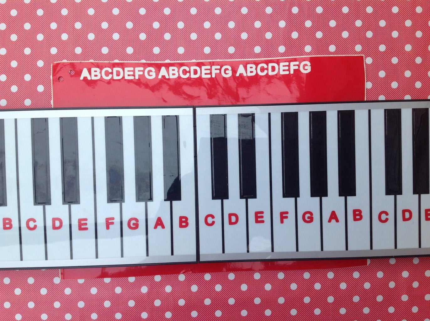 Stick the Letters Onto the Keys