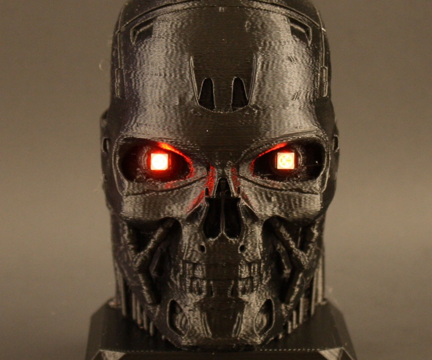 Electrified Terminator With LED Eyes
