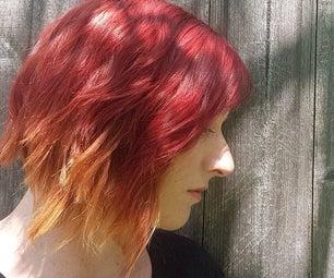 火红的浅灰色头发
