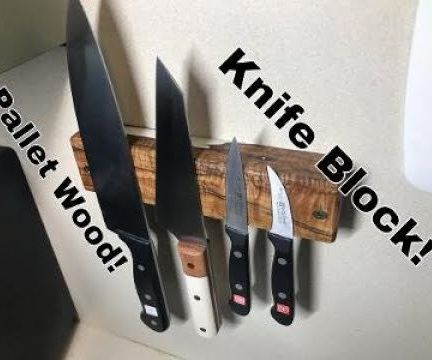 Making a Magnetic Knife Block From Pallet Wood