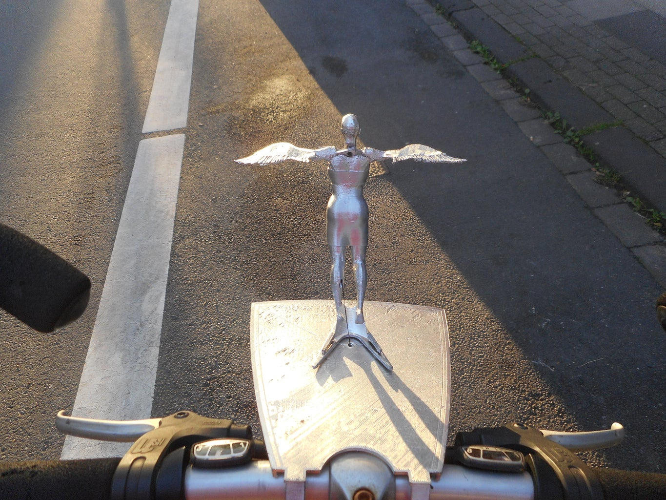 Flapping Bicycle Mascot, Fully 3d Printed