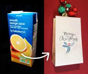 把果汁盒变成礼品袋!