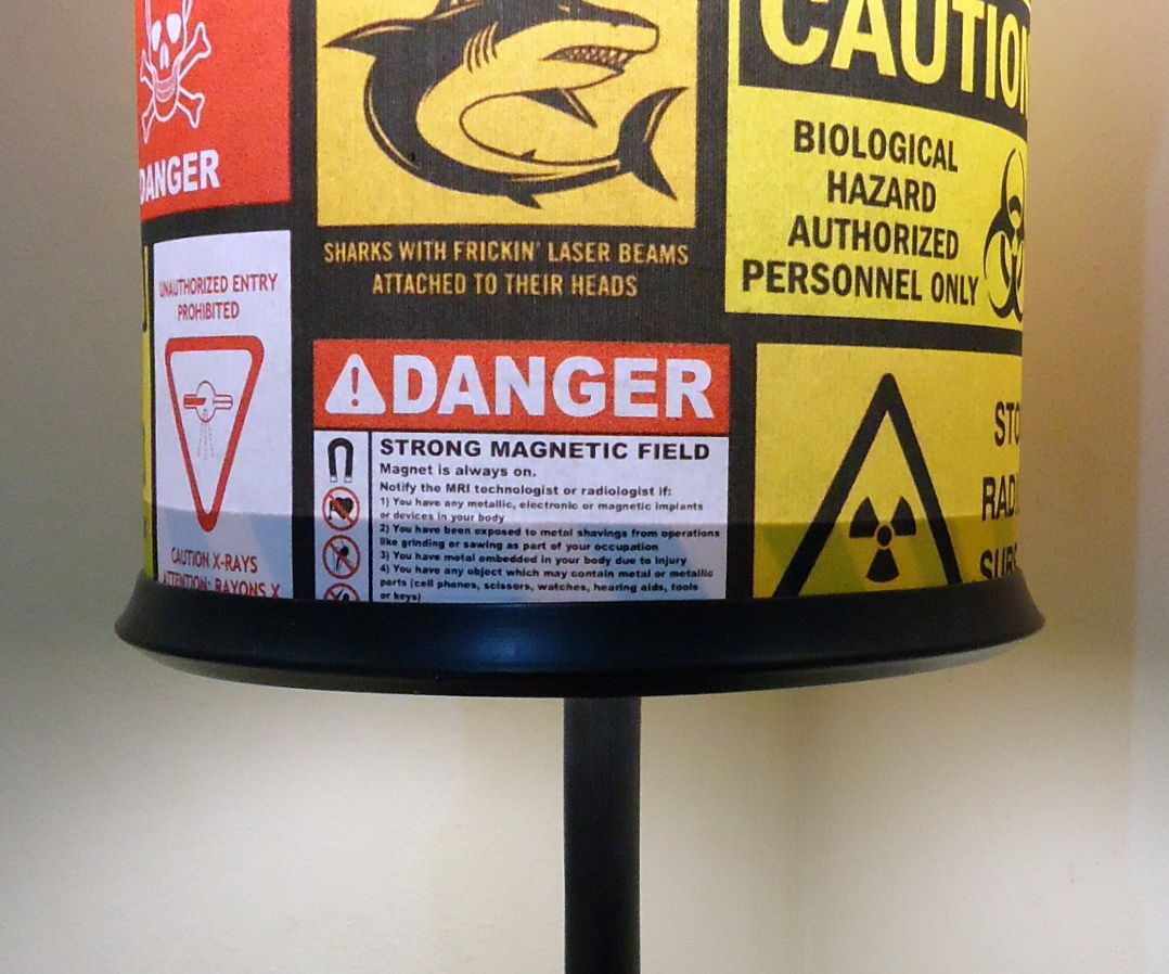 Warning - table lamp