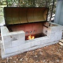 Large Rotisserie Pit BBQ