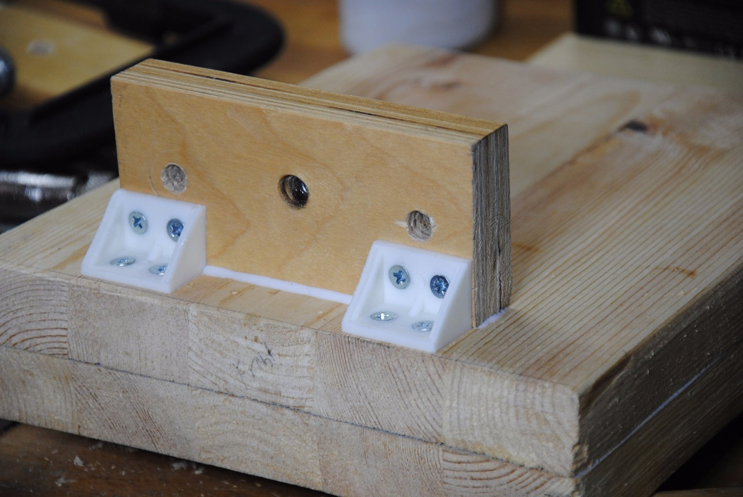 """Drilling Pilot Holes, Gluing, & Screwing the 6X13 Piece (The """"Hexed"""" Support Piece)"""