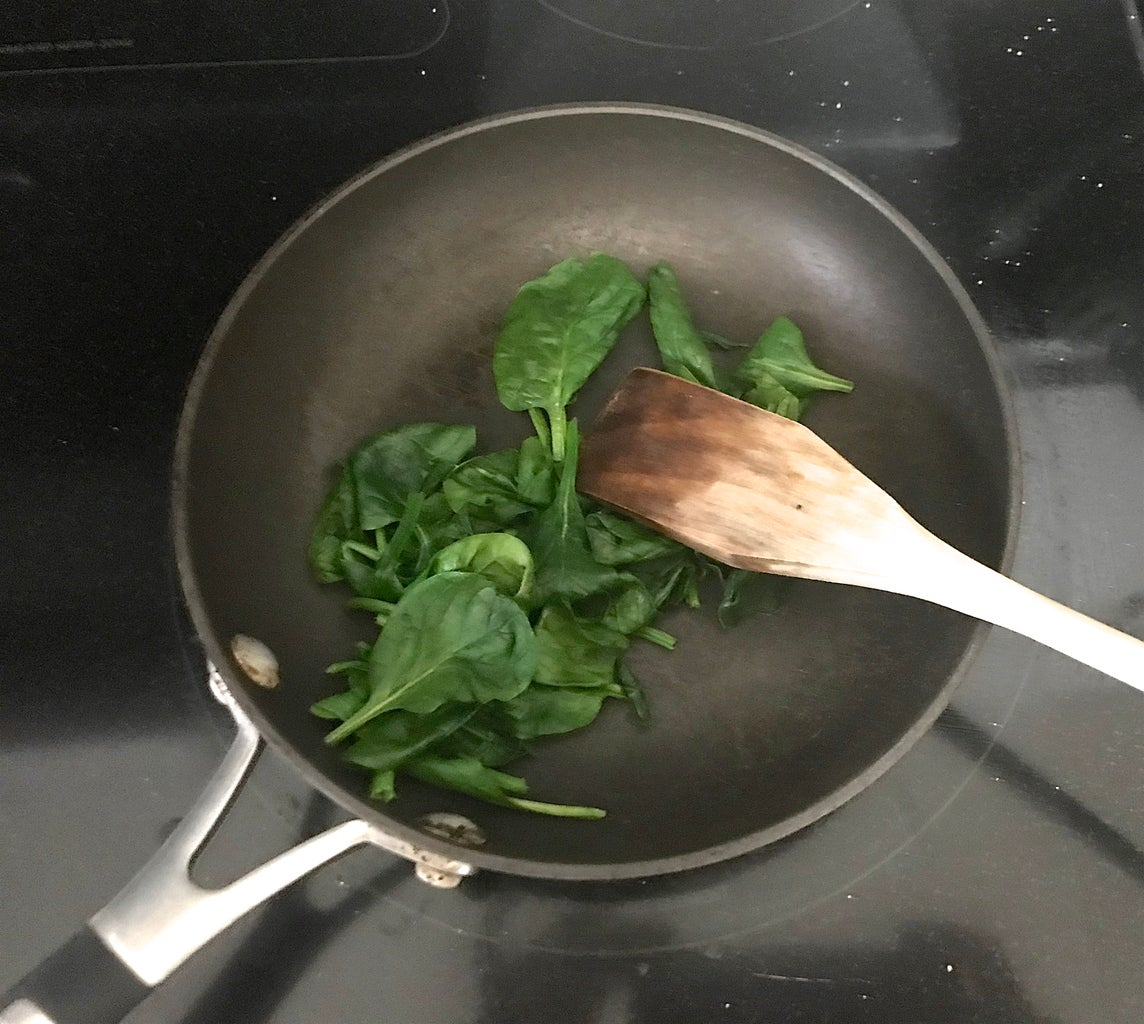 Sauté and Chop Spinach