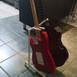 PVC Guitar Stand for Guitar Hero and Rock Band
