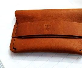 Leather Flip Wallet