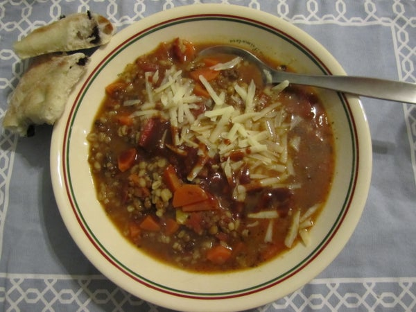 Hearty Barley and Lentil Soup