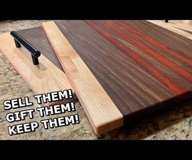 How to Make a Cutting Board and Serving Tray As a Matching Set