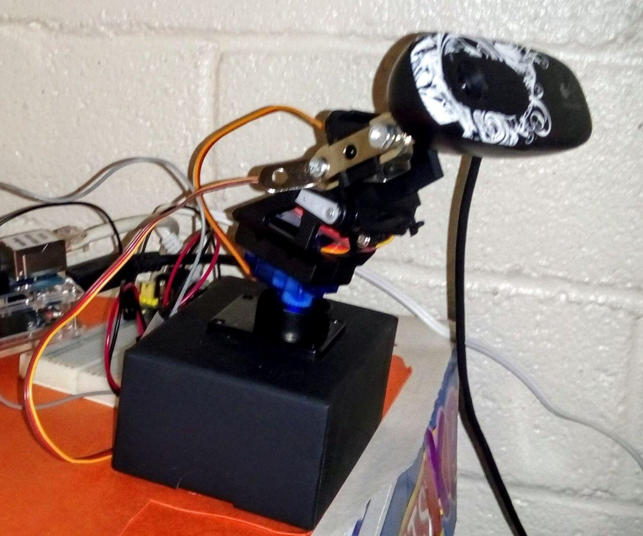Remote pan/tilt webcam