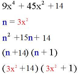 Factoring Trinomials by Substitution