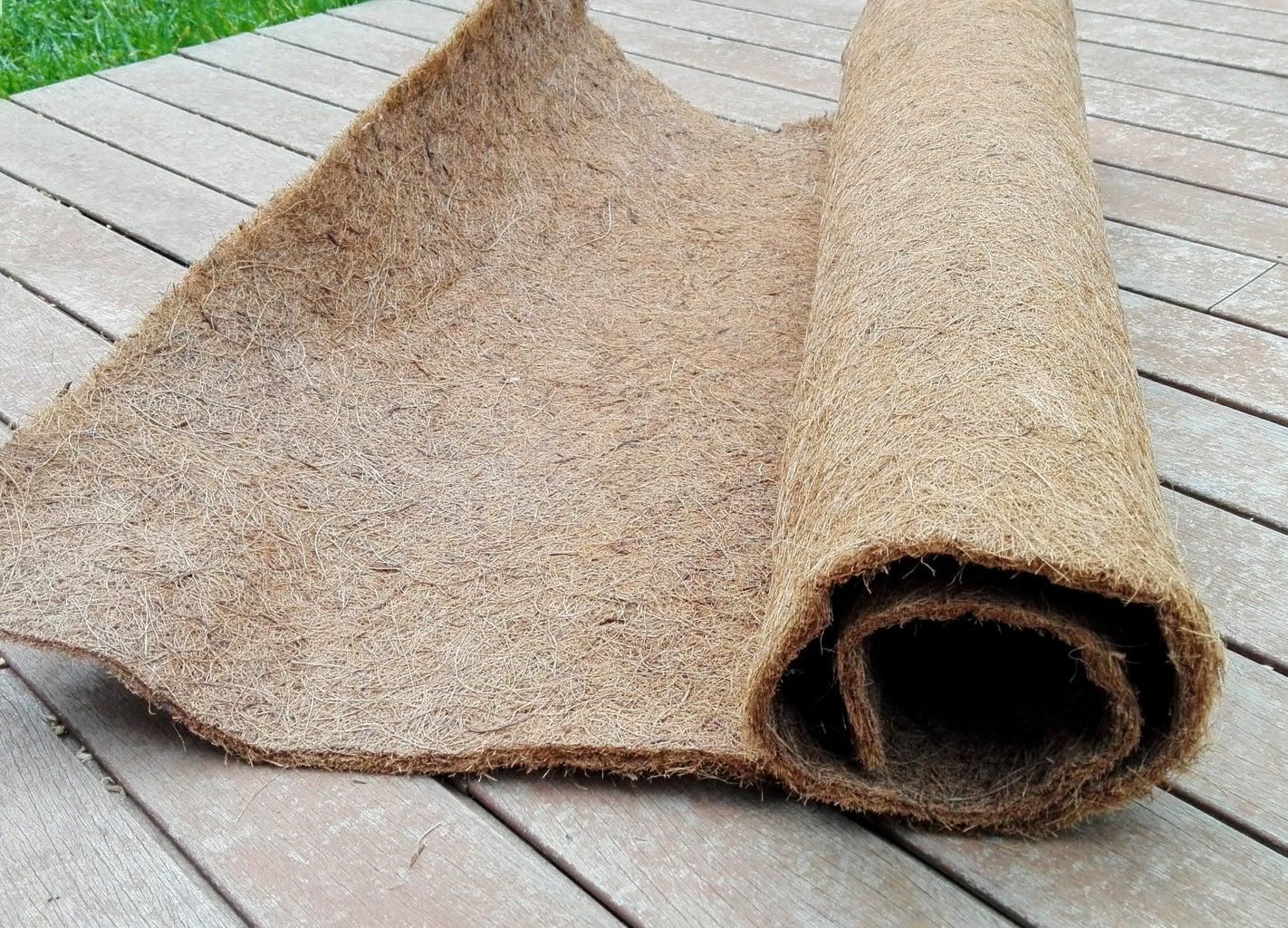 Installing the Coconut Fiber Mat