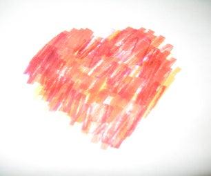 Quick 'n' Easy Heart Print Card