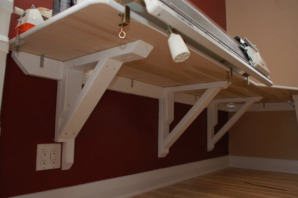 Simple Rock-Solid Cantilever Desk