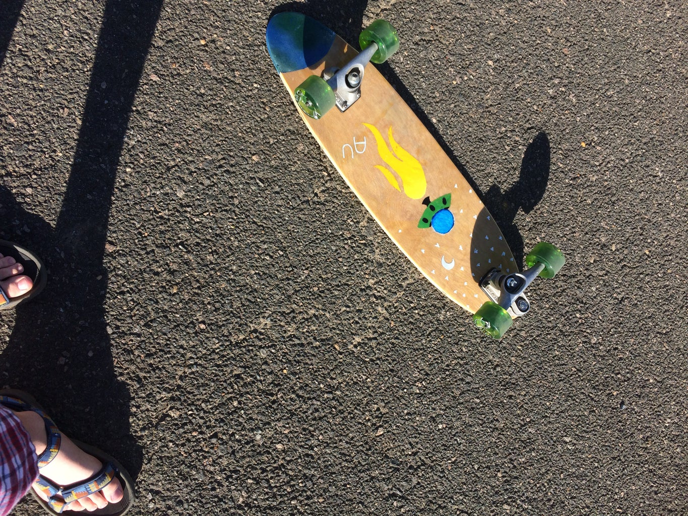 Surf/Skate Board With Space Graphics