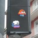 Urban artwork using bead plates