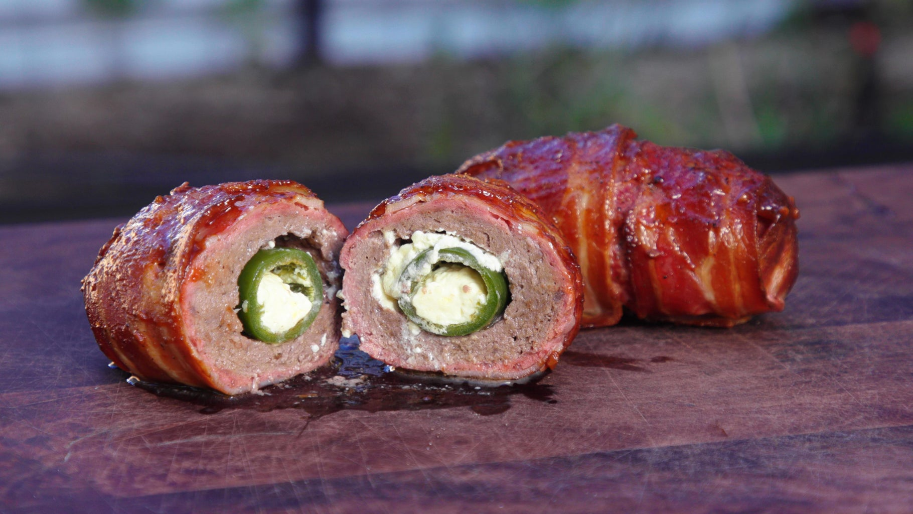 How to Cook Smoked Armadillo Eggs on the Grill - Stuffed Jalapeno Peppers
