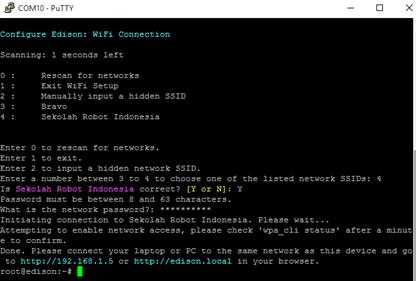 Designing Wifi Connection on Intel Edison