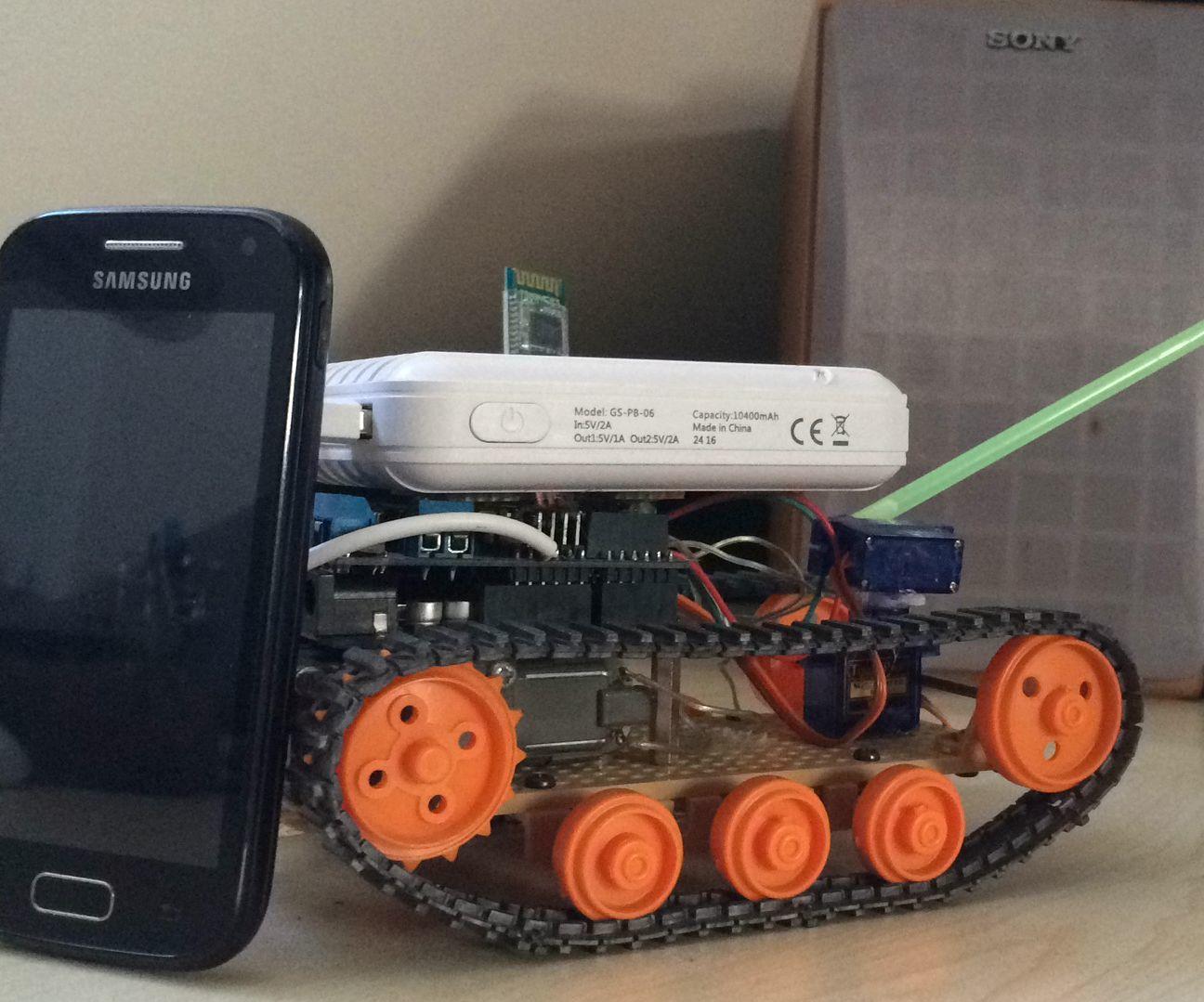 Arduino + Bluetooth controlled Tank