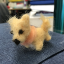 Mini Needle Felted Dog
