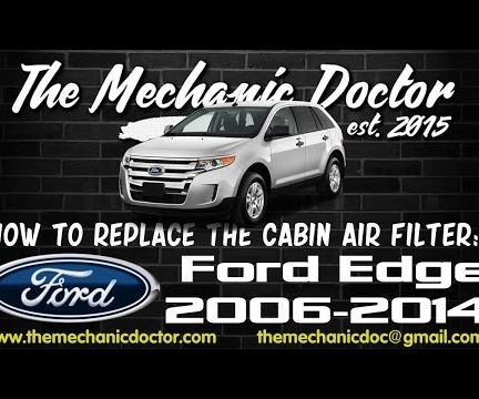 How to replace the cabin air filter : Ford Edge 2006-2014