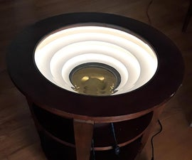 Compass Display Table With Indirect Lighting
