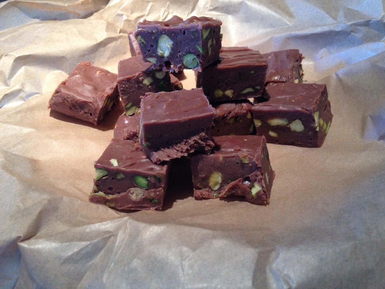Express Chocolate and Pistachio Fudge