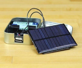 Solar Powered Usb Charger in Altoids Tin