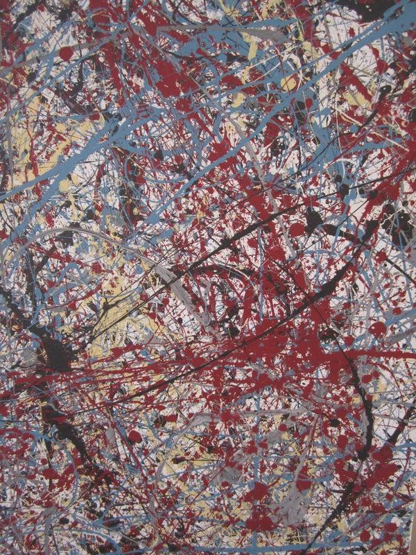 Make a Jackson Pollock Style Canvas Painting