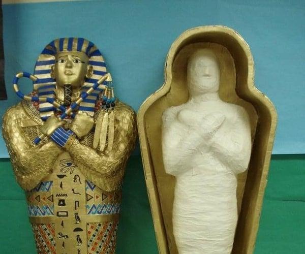 Life Size Paper Mache Sarcophagus