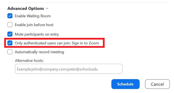 Make Your Meeting Invite-Only
