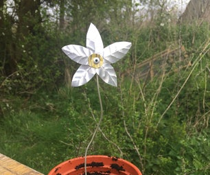 How to Make a Simple Recycled Tin-Can Flower for Your Garden or Plant Pot