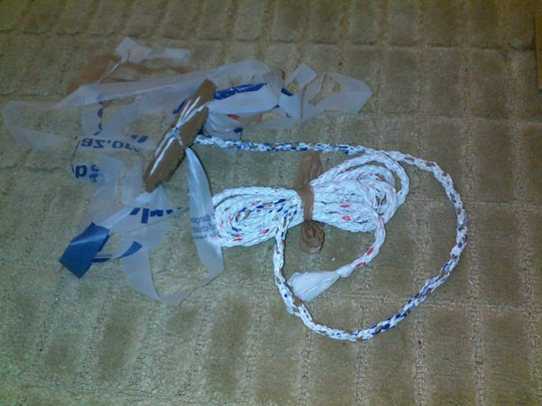 Useful & Durable 7 Strand Rope (cord) From Plastic Shopping Bags
