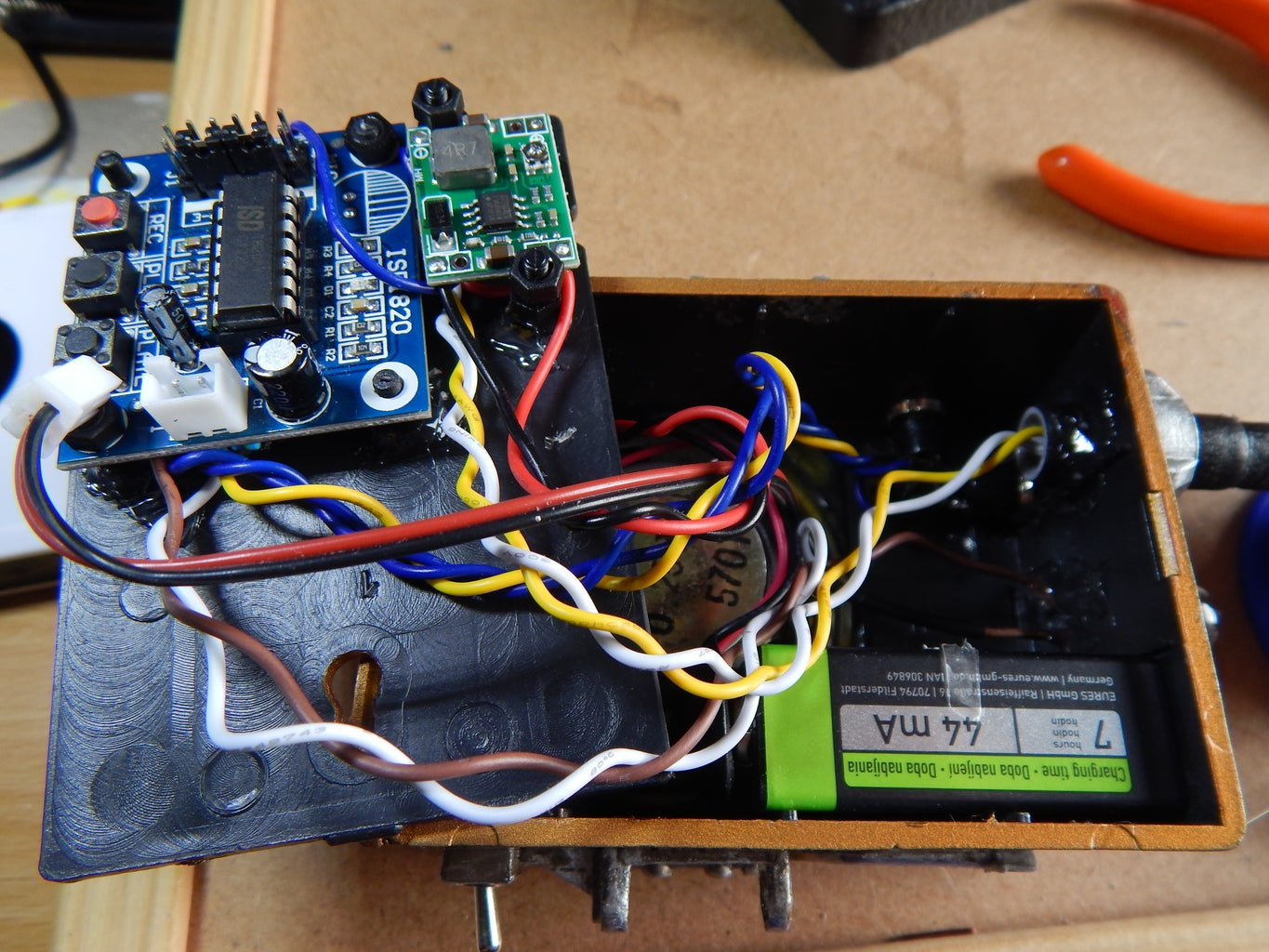 Inserting Battery and Closing the Back Cover