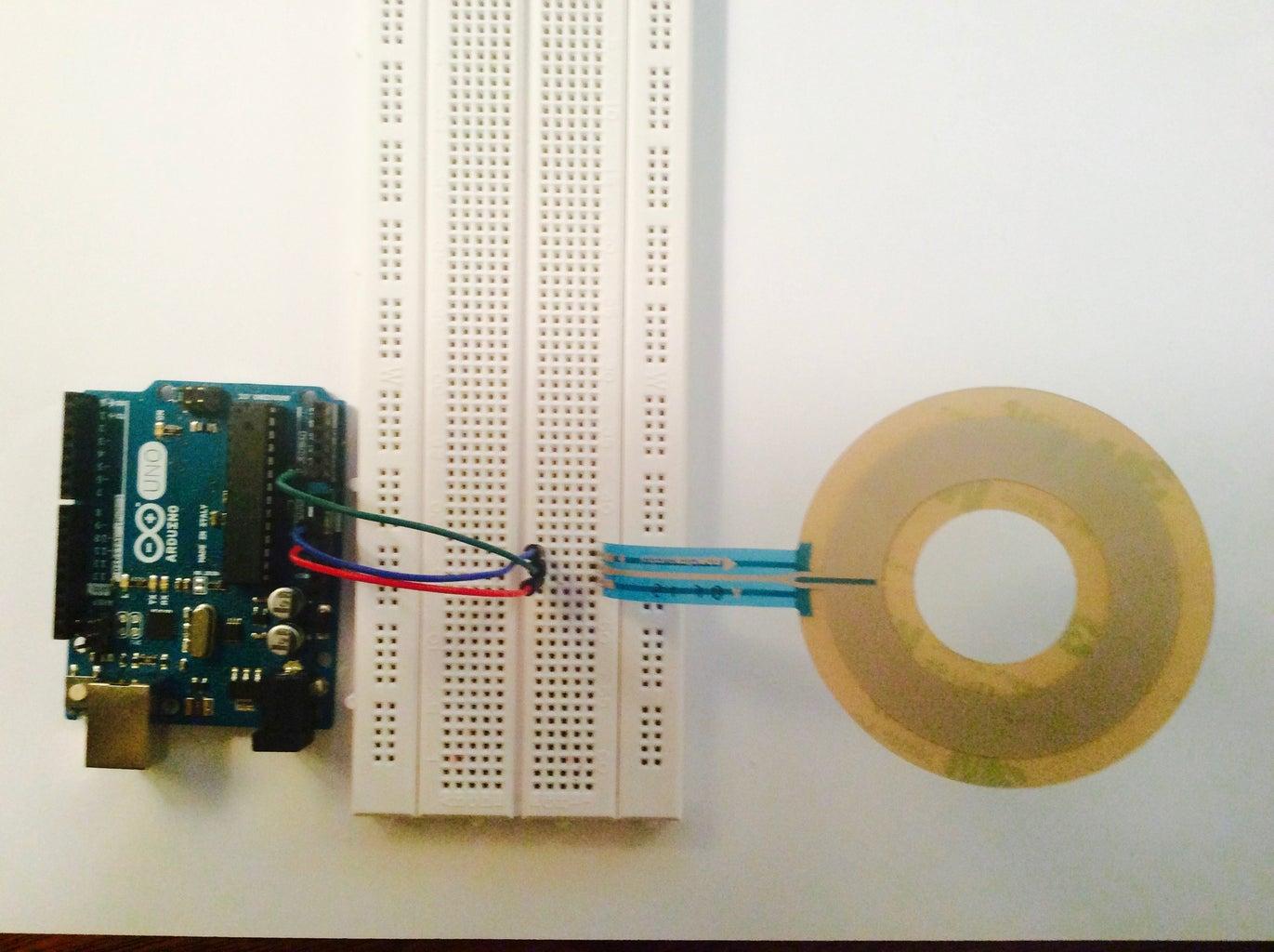 Ribbon Sensor and Arduino