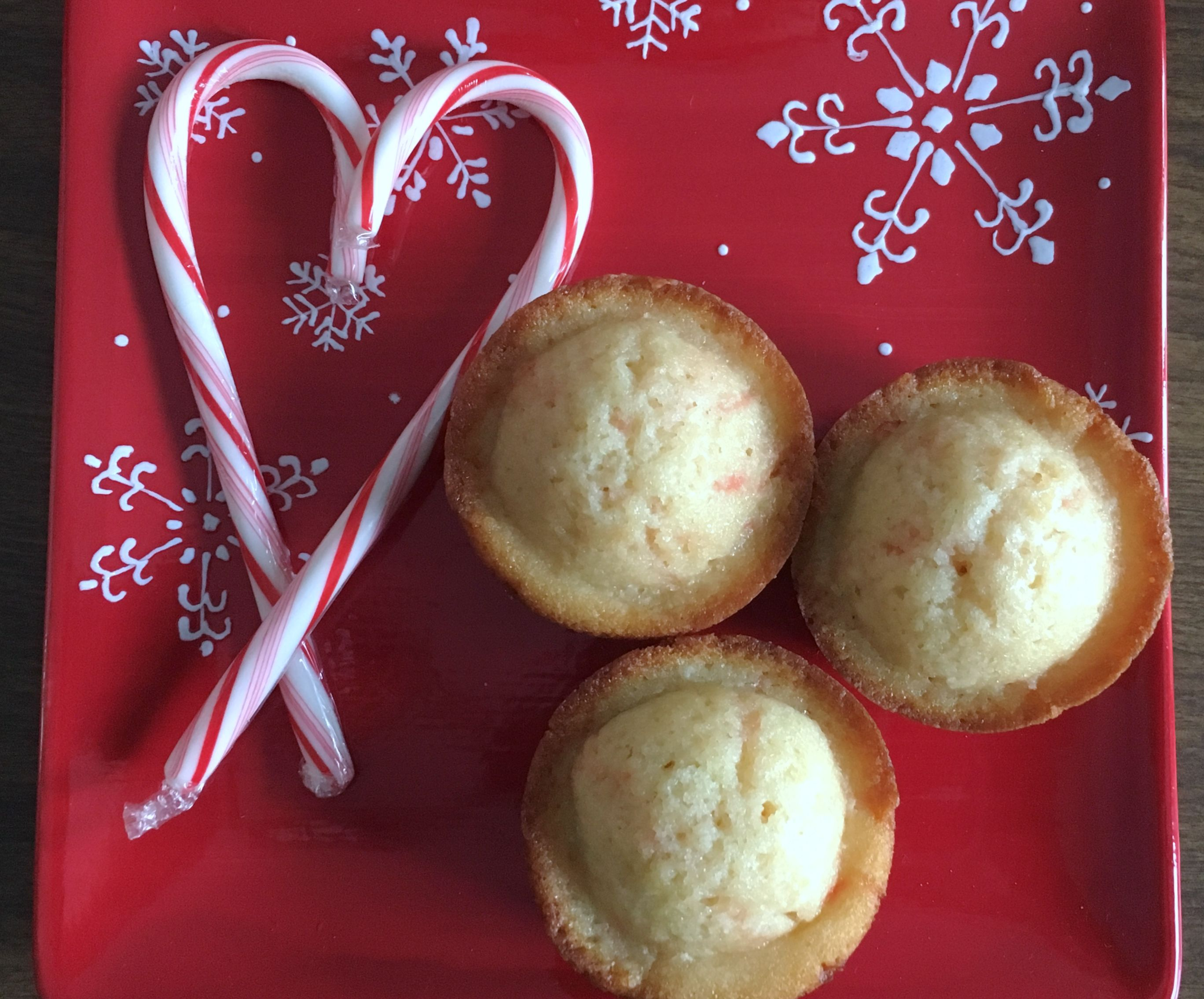 Candy Cane Cupcakes aka Sweet Tomatoes/Souplantation Candy Cane Muffins