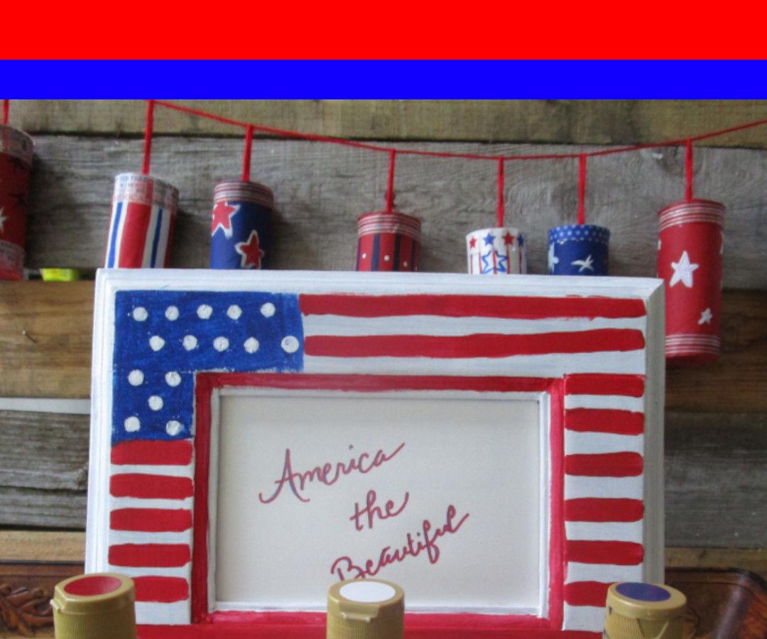 American Flag Inspired Frame