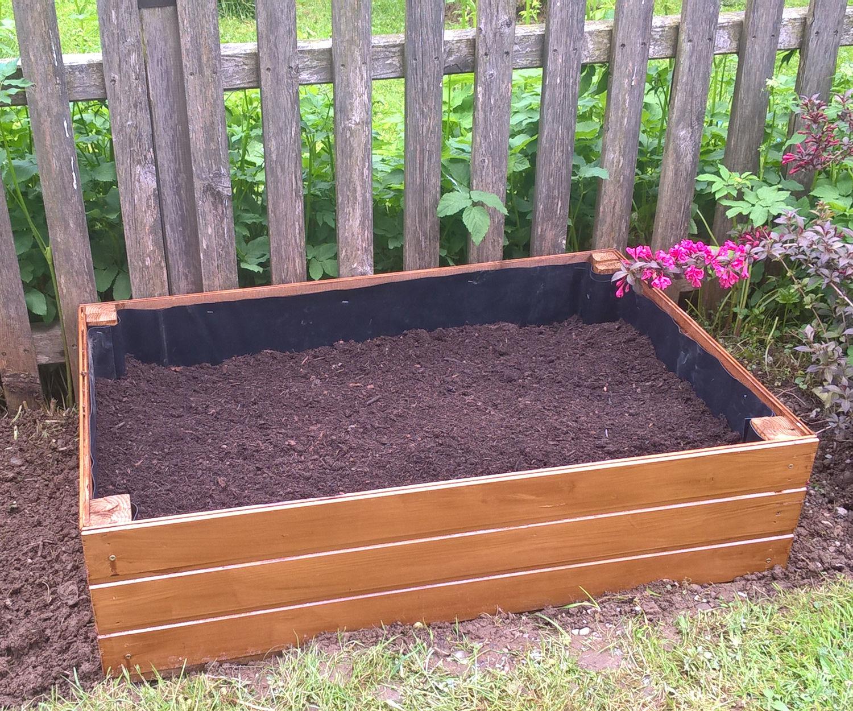 Wooden Raised Bed Garden Planter