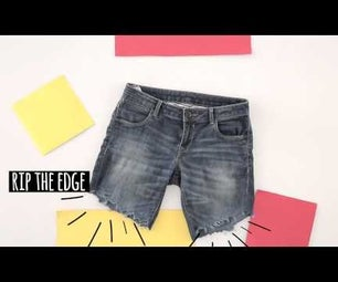 How to Turn Your Jeans Into Shorts