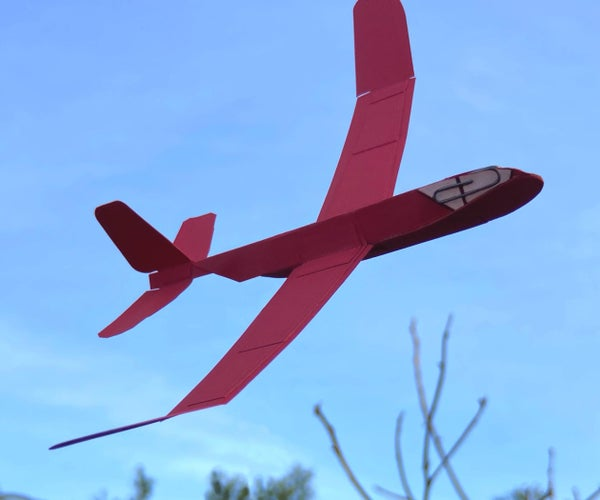 Card Stock Swept Wing Glider