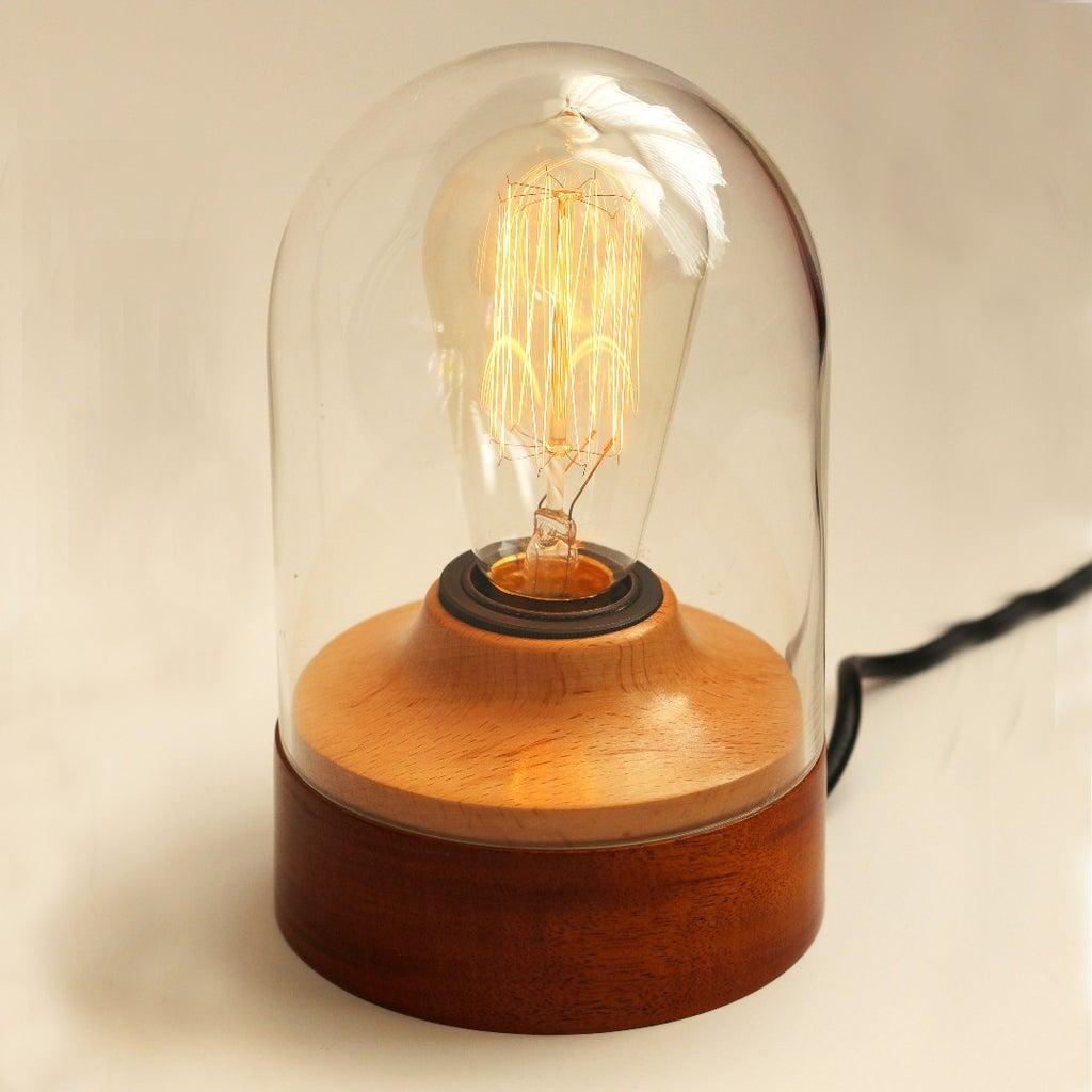 Edison Lamp in a Bell Jar