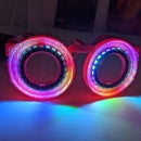 A Pair of LED Glasses with outwards facing LED ring