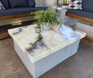Cinderblock and Epoxy Patio Table