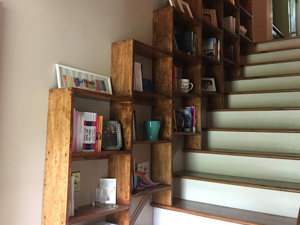 Stairway Bookshelves 7 Steps With Pictures Instructables