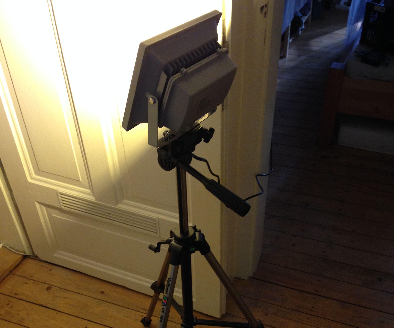 Work Light / Flood Light meets Camera Tripod