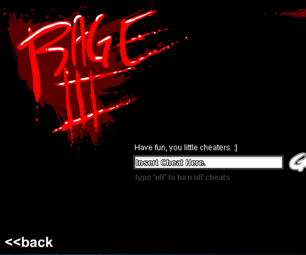 Cheats for Rage 3 Game
