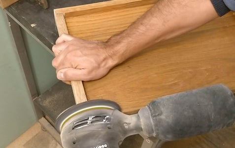 Sanding the Prepared Top Board