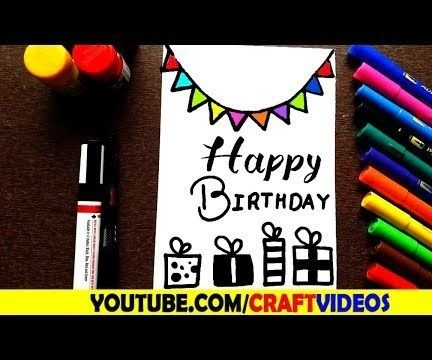 HOW TO DRAW a BIRTHDAY CARD