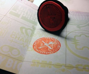 Molding a Hacker Passport Stamp With Sugru, a Laser Engraver, and a 3D Printer